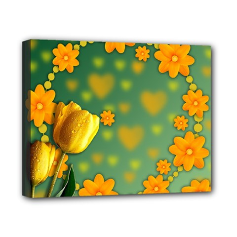 Background Design Texture Tulips Canvas 10  X 8  (stretched)