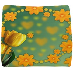Background Design Texture Tulips Seat Cushion