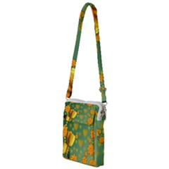 Background Design Texture Tulips Multi Function Travel Bag