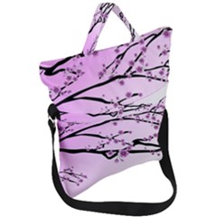 Essential Oils Flowers Nature Plant Fold Over Handle Tote Bag