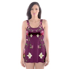 New Motif Design Textile New Design Skater Dress Swimsuit by Sapixe