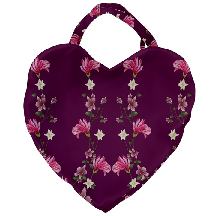 New Motif Design Textile New Design Giant Heart Shaped Tote