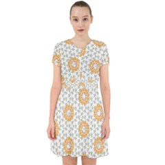Stamping Pattern Fashion Background Adorable In Chiffon Dress by Sapixe