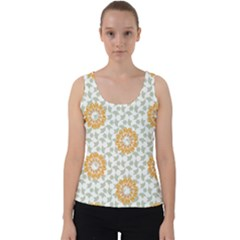 Stamping Pattern Fashion Background Velvet Tank Top by Sapixe