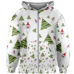 Christmas Kids Zipper Hoodie Without Drawstring