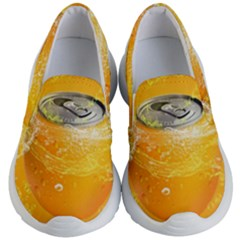 Orange Drink Splash Poster Kid s Lightweight Slip Ons by Sapixe