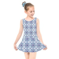 Precious Glamorous Creative Clever Kids  Skater Dress Swimsuit by Sapixe