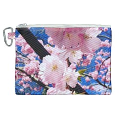 Flower Cherry Wood Tree Flowers Canvas Cosmetic Bag (xl) by Sapixe