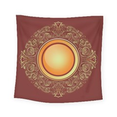 Badge Gilding Sun Red Oriental Square Tapestry (small) by Sapixe