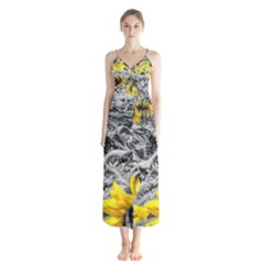 Sunflower Field Girasol Sunflower Button Up Chiffon Maxi Dress