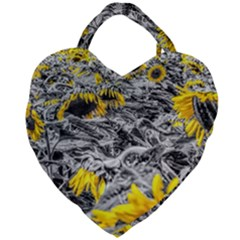 Sunflower Field Girasol Sunflower Giant Heart Shaped Tote