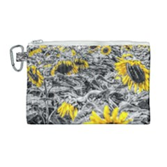 Sunflower Field Girasol Sunflower Canvas Cosmetic Bag (large) by Sapixe