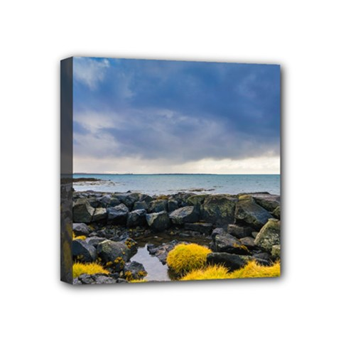Iceland Nature Mountains Landscape Mini Canvas 4  X 4  (stretched) by Sapixe