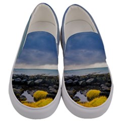 Iceland Nature Mountains Landscape Men s Canvas Slip Ons