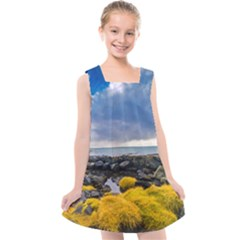 Iceland Nature Mountains Landscape Kids  Cross Back Dress by Sapixe