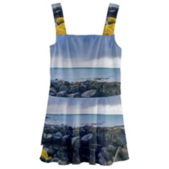 Iceland Nature Mountains Landscape Kids  Layered Skirt Swimsuit by Sapixe