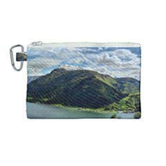 Panoramic Nature Mountain Water Canvas Cosmetic Bag (medium) by Sapixe