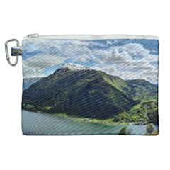 Panoramic Nature Mountain Water Canvas Cosmetic Bag (xl) by Sapixe
