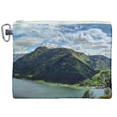 Panoramic Nature Mountain Water Canvas Cosmetic Bag (xxl)