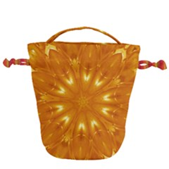 Kaleidoscopic Flower Drawstring Bucket Bag by yoursparklingshop