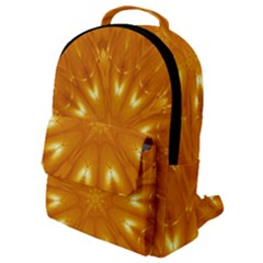 Kaleidoscopic Flower Flap Pocket Backpack (small)