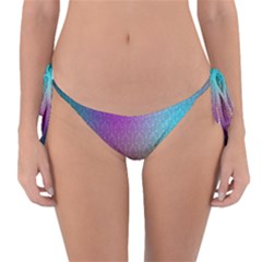 Blue And Pink Colors On A Pattern Reversible Bikini Bottom