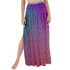 Blue And Pink Colors On A Pattern Maxi Chiffon Tie Up Sarong