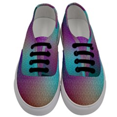 Blue And Pink Colors On A Pattern Men s Classic Low Top Sneakers