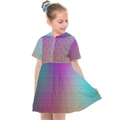 Blue And Pink Colors On A Pattern Kids  Sailor Dress