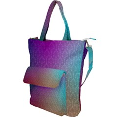Blue And Pink Colors On A Pattern Shoulder Tote Bag