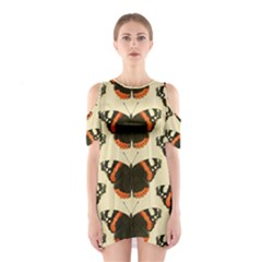 Butterfly Butterflies Insects Shoulder Cutout One Piece Dress