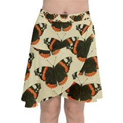 Butterfly Butterflies Insects Chiffon Wrap Front Skirt