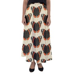 Butterfly Butterflies Insects Flared Maxi Skirt