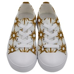 Seamless Repeating Tiling Tileable Kids  Low Top Canvas Sneakers