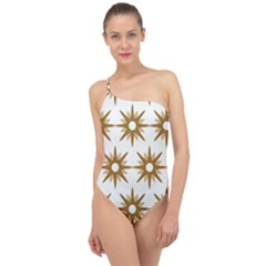 Seamless Repeating Tiling Tileable Classic One Shoulder Swimsuit