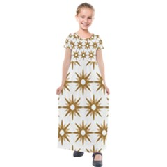 Seamless Repeating Tiling Tileable Kids  Short Sleeve Maxi Dress by Jojostore