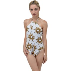 Seamless Repeating Tiling Tileable Go With The Flow One Piece Swimsuit