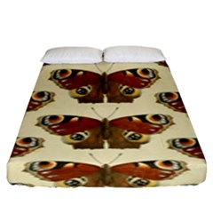 Butterfly Butterflies Insects Fitted Sheet (king Size)