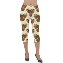 Butterfly Butterflies Insects Lightweight Velour Capri Leggings