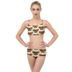 Butterfly Butterflies Insects Layered Top Bikini Set