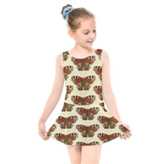 Butterfly Butterflies Insects Kids  Skater Dress Swimsuit