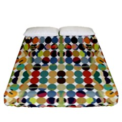 Retro Pattern Abstract Fitted Sheet (queen Size)
