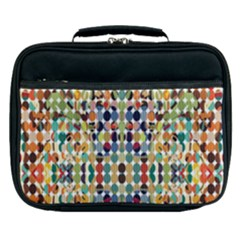 Retro Pattern Abstract Lunch Bag by Jojostore