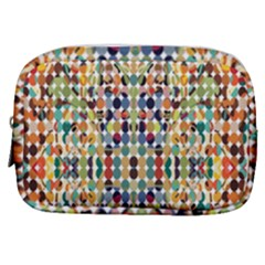 Retro Pattern Abstract Make Up Pouch (small) by Jojostore