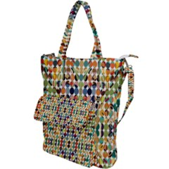 Retro Pattern Abstract Shoulder Tote Bag