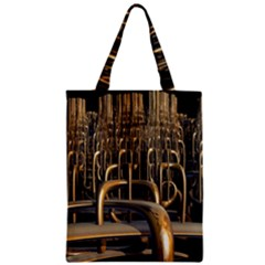 Fractal Image Of Copper Pipes Zipper Classic Tote Bag by Jojostore
