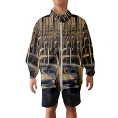 Fractal Image Of Copper Pipes Windbreaker (kids)