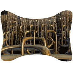 Fractal Image Of Copper Pipes Seat Head Rest Cushion by Jojostore
