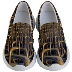 Fractal Image Of Copper Pipes Kid s Lightweight Slip Ons by Jojostore