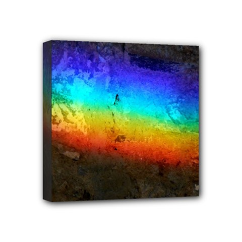 Rainbow Color Prism Colors Mini Canvas 4  X 4  (stretched)